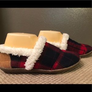 TOMS PLAID SLIPPERS LADIES SIZE 7